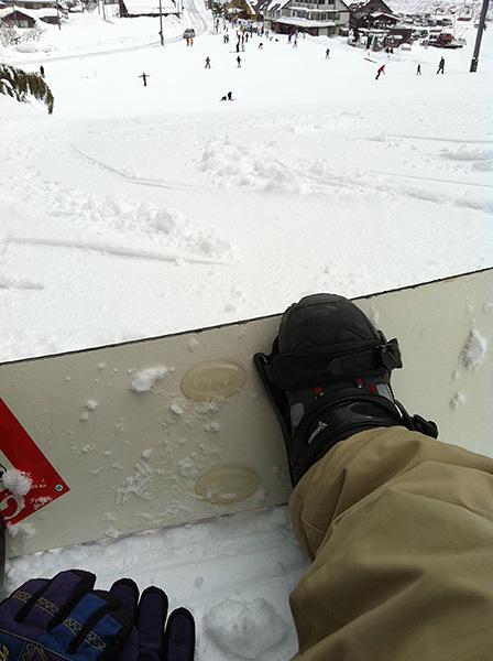 神鍋高原でスノーボード