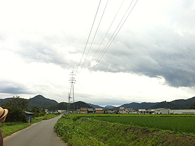 日高町の田んぼ道